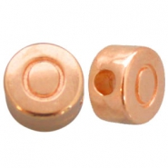 DQ metal letterbead O Rose gold (nickel free)