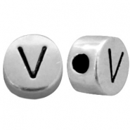 DQ metal letterbead V Antique silver (nickel free)