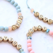 NEW Letter beads DQ European metal & macramé cord!