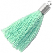 Tassels with end cap Pastel turquoise