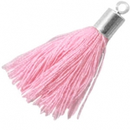 Tassels with end cap Sweet rose pink