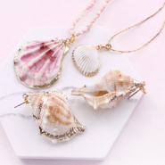 Inspirational Sets Jewellery and accessory making with our new shell pendants and belcher chain!