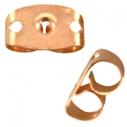 DQ metal earring backs Rose gold (nickel free)