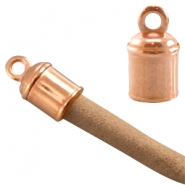 DQ metal end cap (for 4-5mm leather) Rose gold (nickel free)