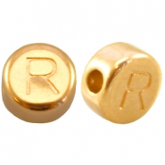 DQ metal letterbead R Gold (nickel free)