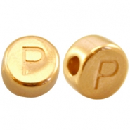 DQ metal letterbead P Gold (nickel free)