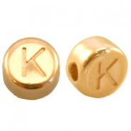 DQ metal letterbead K Gold (nickel free)