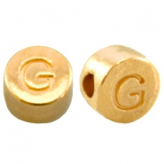 DQ metal letterbead G Gold (nickel free)