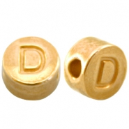 DQ metal letterbead D Gold (nickel free)