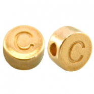 DQ metal letterbead C Gold (nickel free)