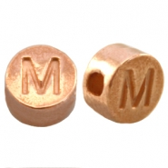 DQ metal letterbead M Rose gold (nickel free)