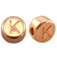 DQ metal letterbead K Rose gold (nickel free)