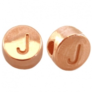 DQ metal letterbead J Rose gold (nickel free)