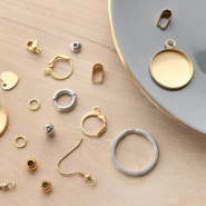 NEW New stainless steel jewellery findings in gold!