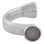 DQ metal bracelet for 12mm cabochon Antique  Silver (nickel free)