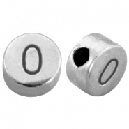 DQ metal number beads # 0 Antique silver (nickel free)