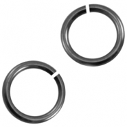 DQ metal jumpring Silver anthracite (nickel free)