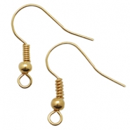 DQ metal earrings Gold (nickel free)