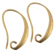 DQ metal earrings Antique bronze (nickel free)