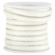 Trendy stitched Jean-Jean cord 6x4mm Light beige