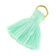 Small tassels with ring Turquoise green