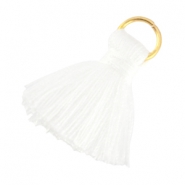 Small tassels with ring White