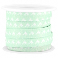 Trendy flat cord 10mm Light turquoise