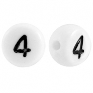 Acrylic letterbeads number 4 White