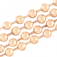 Basic Quality metal ball chain 2mm Light rose gold