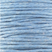 Waxed cord 1.5mm Light sapphire blue
