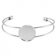 Metal bracelet for 20mm cabochon Silber