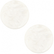 Flat soft tone Polaris cabochon 20mm matt Greenish beige