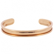 DQ metal bracelet base (for 5mm cord/leather) Rose gold (nickel free)
