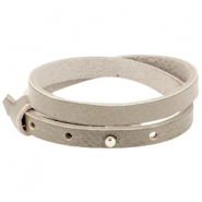 8mm Double leather Cuoio bracelets for 12mm cabochon Sage grey
