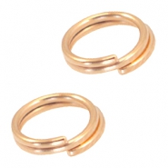DQ metal splitring / double ring 7mm Ø5.7mm Rose gold (nickel free)