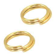 DQ metal splitring / double ring 7mm Ø5.7mm Gold (nickel free)