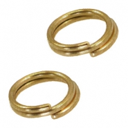 DQ metal splitring / double ring 7mm Ø5.7mm Antique bronze (nickel free)