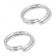 DQ metal splitring / double ring 7mm Ø5.7mm Antique silver (nickel free)
