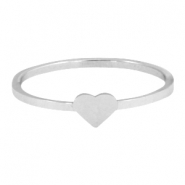 Stainless steel ring heart 19mm  Silver