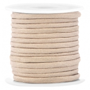 Trendy 4mm flat surfcord Champagne beige