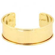 DQ metal findings bracelet base Gold (nickel free)