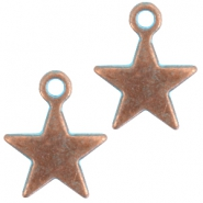 DQ star charm Copper blue patina (nickel free)