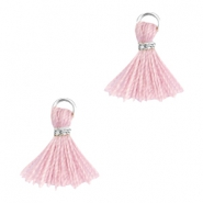 Ibiza style small tassels Silver-Antique pink