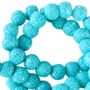 8 mm sparkling beads Lagoon blue