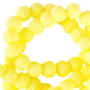 8 mm sparkling beads Light yellow