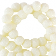 8 mm sparkling beads Pastel yellow