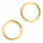 DQ metal jump ring 7.5mm Gold (nickel free)