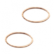 Connector DQ metal oval closed ring Rose gold (nickel free)