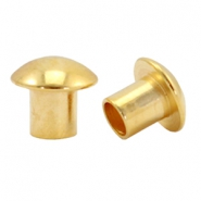 DQ metal end caps for beads with a Ø4mm threading hole Gold (nickel free)