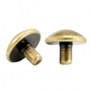 DQ metal end caps for beads with a Ø1.9mm threading hole Antique bronze (nickel free)